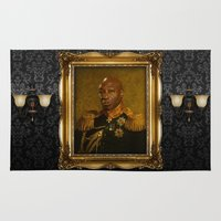replaceface Area & Throw Rugs featuring Michael Clarke Duncan - replaceface by replaceface