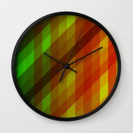 Cool to Hot Weaving Lanes Wall Clock