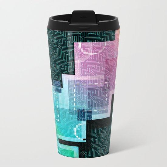 Abstract Tech Metal Travel Mug