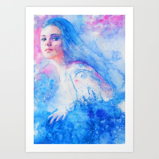Right from the stars Art Print