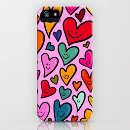 Smiling Heart Print iPhone Case
