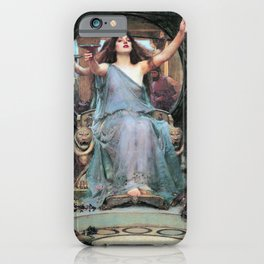 John William Waterhouse - Circe Offering The Cup To Odysseus - Digital Remastered Edition iPhone Case
