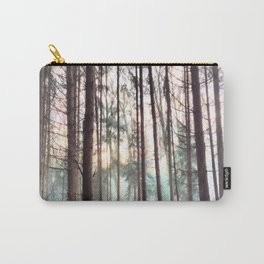 Soft Hazy Winter Forest Carry-All Pouch