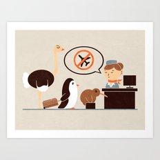 The No-Fly List Art Print