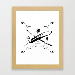 The Pen and the Sword (La plume et l'epee) Framed Art Print
