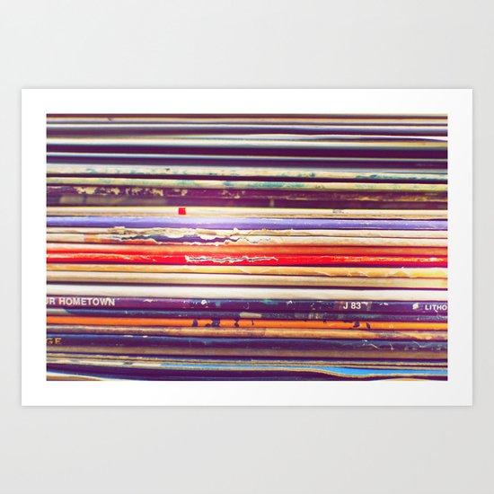 Grandpa's Records Art Print
