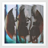twins Art Prints featuring Twins by Jane Lacey Smith