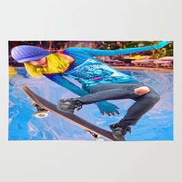 Skateboarding on Water Rug