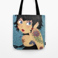 rockabilly Tote Bags featuring Rockabilly by Katherine Galo