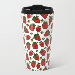 Strawberry Pattern Travel Mug