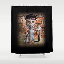Franken Kitty Shower Curtain