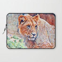 Aquarell Lion Laptop Sleeve