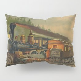 Night Scene on the NY Central Railroad (Currier & Ives) Pillow Sham