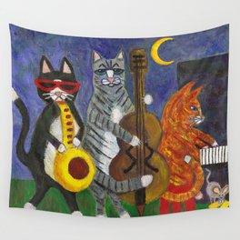 Jazz Cats Wall Tapestry