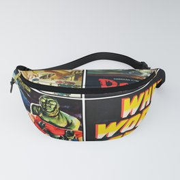 50s Sci-Fi Poster Collage #2 Fanny Pack