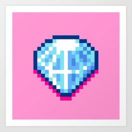 Pixel Diamond Art Print