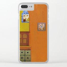 Algerian colors Clear iPhone Case