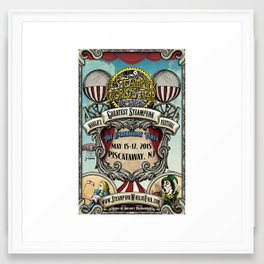 The Steampunk Worlds Fair 2015 Poster The Unbirthday Party Framed Art Print