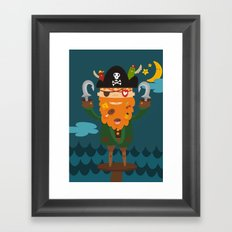 Captain Foodbeard Framed Art Print