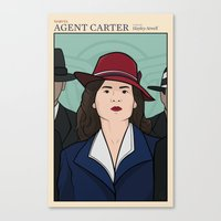 agent carter Canvas Prints featuring Agent Carter by saintsandstorms