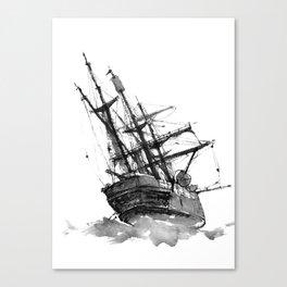 wrecked ship Canvas Print