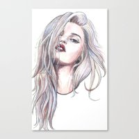 sky ferreira Canvas Prints featuring Sky Ferreira  by Asquared2Art