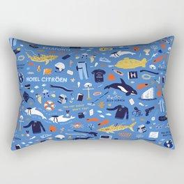 Life Aquatic Plot Pattern Rectangular Pillow