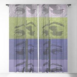Beauty or die Sheer Curtain