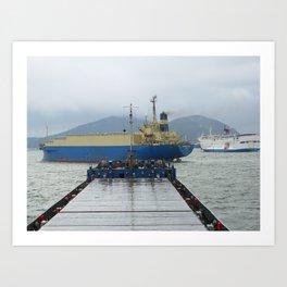 Busan port Art Print