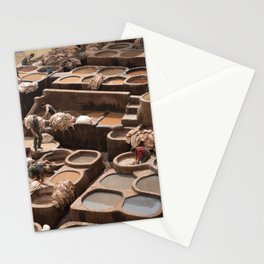 Leather Tannery - Fes, Morocco Stationery Cards