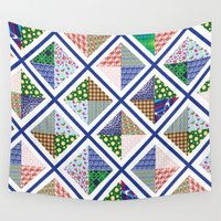 quilt Wall Tapestries featuring Pattern Quilt by Cina Catteau