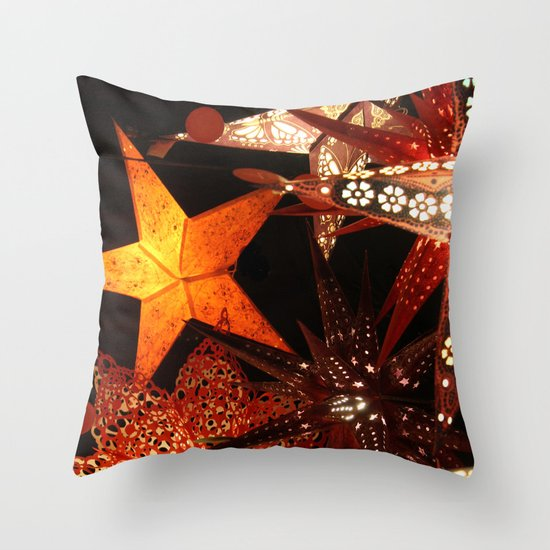 Paper Lanterns Throw Pillow