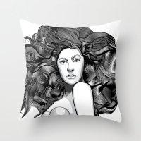 artrave Throw Pillows featuring artRAVE ARTPOP by Alli Vanes