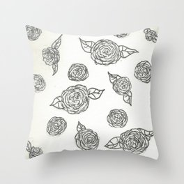 Falling Roses Throw Pillow