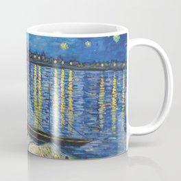 Starry Night Over the Rhône Painting Coffee Mug