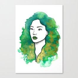 Green Tea Mochi Canvas Print