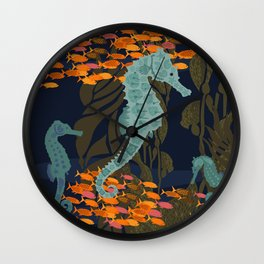 seahorse and friends Wall Clock