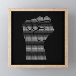 Black Lives Matter Fist | BLM Equality Framed Mini Art Print