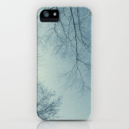 The Trees - Hazy n' Blue iPhone Case