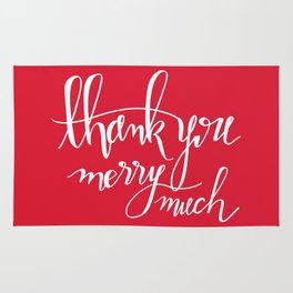 Thank You Merry Much - Red Rug