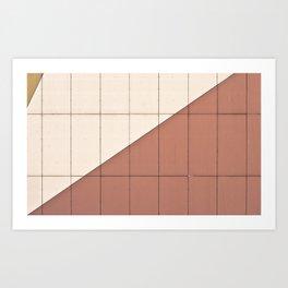Vintage lines Art Print