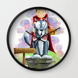Red Riding Hood 2 Wall Clock