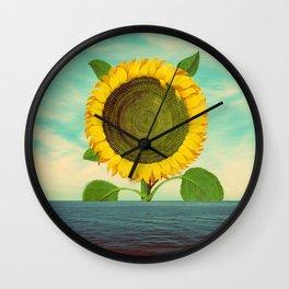 Sun in the ocean Wall Clock