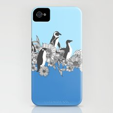 Flowers & Penguins iPhone (4, 4s) Slim Case