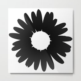 Black Daisy Metal Print