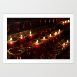 Prayer Candles With a Shallow Depth of Field Art Print