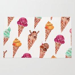 Ice Cream Cones – Rainbow Palette Rug