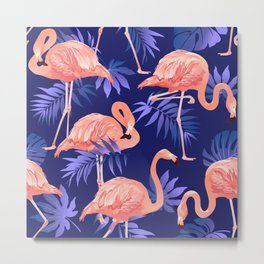 flock of flamingo pattern Metal Print