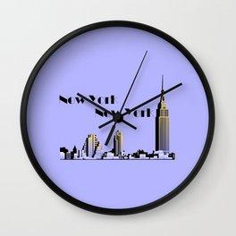New York New York skyline retro 1930s style Wall Clock