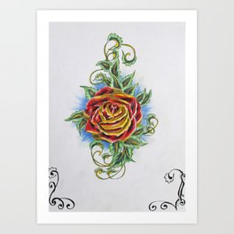 Ornamental Rose Art Print